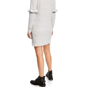 Kensie ruffle long sleeve sweater dress